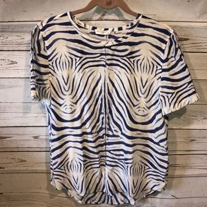 Equipment Femme Riley silk zebra blouse